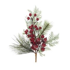 Fern and Pine with Berries Floristry Pick - Christmas Elves