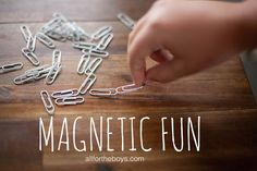 Magnetic fun from All for the Boys blog