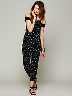 Black Ditsy Dungarees in spotted-3