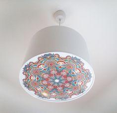 Lampen & Kerzen - Lampenschirm Mandala 30 cm +Diffusor - ein Designerstück von Lichthaus bei DaWanda