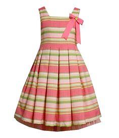 Bonnie Jean 7-16 Striped Linen-Look Dress | Dillards.com