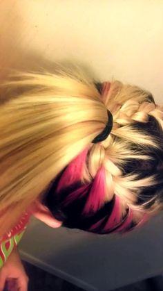 Splat Pink Fetish in braids