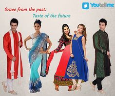 Check out the latest collection of Ethnic Wear only @ Youtellme.com!!!  #EthnicWear #Sarees #Kurtas #Sherwanis #Dresses #DressMaterials