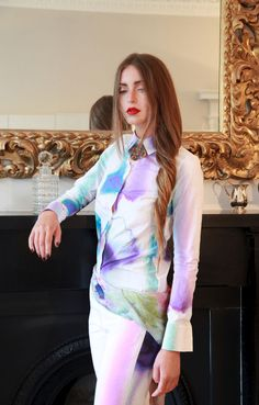 Our beautiful luxury cotton Eley Print Shirt is now only £118.20 available from our online store katiedarlington.mysupadupa.com. Only 3 sizes left!