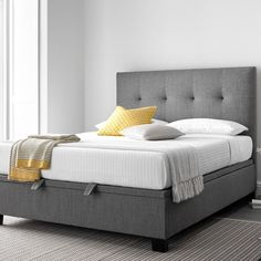 Phenomenal Up To 90 Off Verona Fabric Storage Ottoman Bed Groupon Gmtry Best Dining Table And Chair Ideas Images Gmtryco