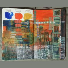 Gillian Cook Art Journal. Colour play is so good for the soul. 10 April 2015.