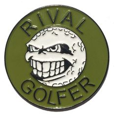 'Rebellious' design in Olive. This looks awesome against the black nickel. #ballmarker #golfballmarker #accessories #golf #golfaccessories #rivalgolfer #junior #juniorgolf #olive #olivecolour