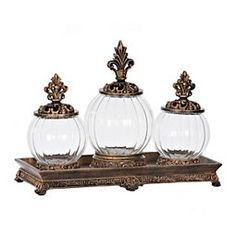 Style your table space in simple elegance with decorative jars and apothecary jars at Kirkland's! Find a jar that fits your design and browse our selection now. Decor, Floor Candle, Decorated Jars, Ceramic Canister Set, Trendy Home Decor, Pink Table Settings, Indoor Decor, Decorative Jars, Apothecary Jars Decor