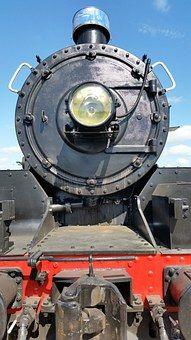 Steam Train, Headlight, Train