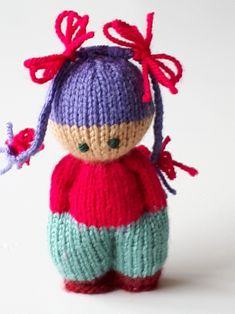 Knitted Doll Patterns, Knitting Paterns, Knitted Dolls, Amigurumi Patterns, Sewing Patterns Free, Knitting Projects, Crochet Projects, Crochet Patterns, Knit Or Crochet