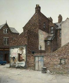 To the Rear of Woodbine Street, South Shields, Alfred Ainslie O`Brien Urban Landscape, Landscape Art, Landscape Paintings, Landscapes, Building Painting, Building Art, London Painting, Cityscape Art, Old Farm Houses