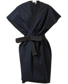 Belted Cotton-silk Jacket Dress