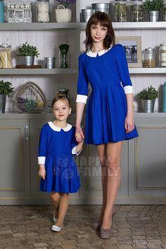"""Платья для мамы и дочки """"Классик"""". Мама и дочка в стиле family look."""