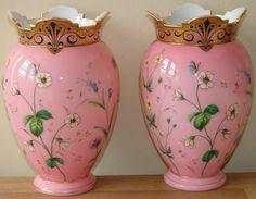 Antique Bristol Vases
