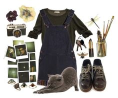 """""""-"""" by velvetdaydream ❤ liked on Polyvore featuring Forever 21, Dorothy Perkins and Dr. Martens"""