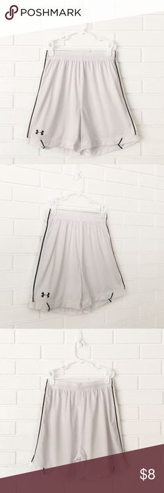 🌟30% Bundles🌟Under Armour White Athletic Shorts ▫️Brand: Under Armour ▫️Size: YMD ▫️Material: Polyester ▫️Flaws: NONE  ▫️Description:  •Elastic drawstring waist •Mesh side panels •Under Armour logo  ▪️NO Trade/Hold ▪️Next Day Shipping ▪️Smoke Free/Kitty Friendly Home  ♦️Please ASK questions & READ descriptions before purchasing. Measurements are for guidance purposes only. I cannot guarantee fit♦️ Under Armour Bottoms Shorts