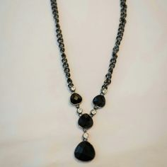 Black fancy necklace Super cute and stylish! Jones New York Jewelry Necklaces