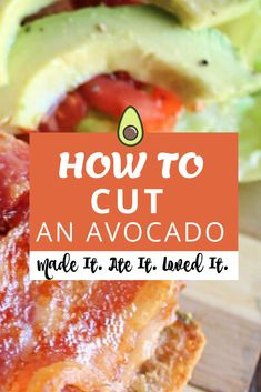 Learn how to cut an avocado the EASY way! This will get you the professional results you are looking for every single time! Delicious Dinner Recipes, Great Recipes, My Favorite Food, Favorite Recipes, How To Cut Avocado, Family Meals, Family Recipes, Copycat Recipes, Easy Cooking
