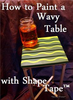 How to Paint a Wavy Side Table with Frog Tape® #ShapeTape @condoblues