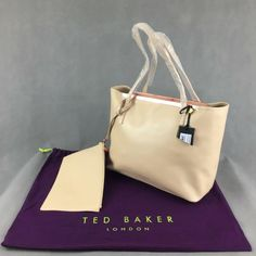TED BAKER Leather ISBELL Mink TOTE SHOPPER BAG and PURSE - BNWT HANDBAG Shopper Bag, Tote Bag, Beige Style, Pointed Toe Pumps, Holiday Fashion, Mink, Ted Baker, Bag Accessories, Purses And Bags