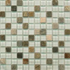 Sample- Natural Beach Stone Glass Mosaic Tile Kitchen Backsplash Bath Wall Sink