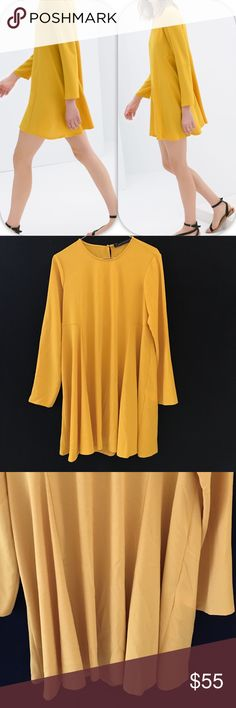 NWOT ZARA WOMAN YELLOW BABYDOLL DRESS - - Medium Brand: Zara Woman yellow dress   Condition: New without tag one small spot on the dress || Size Medium || Yellow mustard   🚩NO TRADES  🚩NO LOWBALL OFFERS  🚩NO RUDE COMMENTS  🚩NO MODELING  ☀️Please don't discuss prices in the comment box. Make a reasonable offer and I'll either counter, accept or decline.   Armpit to armpit: 18,11'' / 46 cm Shoulder to shoulder:15,35'' / 39 cm Total length from the shoulder:32,28'' / 82 cm Zara Dresses Mini