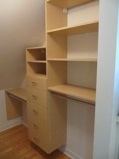closets on sloped ceilings | Sloped Ceiling Closet
