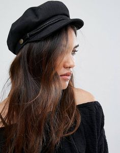 Brixton Baker Boy Hat in Black at asos.com 832ada7a782d