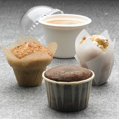 Packnwood UK - Paper Ramekins and Golden brown Tulips Baking cups Mini sweet cakes are perfect to go with your coffee or hot drink!