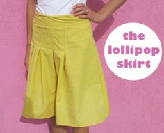 Simple pleated skirt tutorial