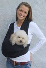 Dog Sling Carrier~ not a joke, I have been looking for one of these!