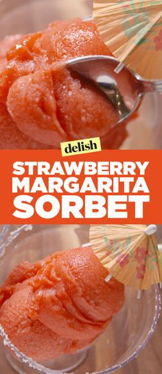 Strawberry Margarita Sorbet Is The Answer To Your Booziest Prayers