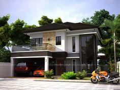 Zen House Design Concept on Interior Design Zen House Design, Bungalow Haus Design, H Design, Modern Zen House, Modern House Plans, Style At Home, Philippines House Design, Philippine Houses, House With Balcony