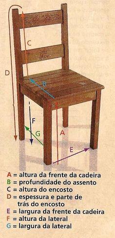 Com o esqueminha a seguir você vai fazer uma capa para renovar as cadeiras da casa. Solte a imagin ação e troque as cores, acrescente detal...