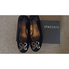 online retailer f62f2 ca2b1 STACCATO logo suede flats Worn only a couple of time.