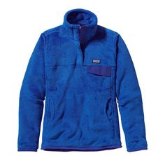 Patagonia Women\'s Re-Tool Snap-T\u00AE Fleece Pullover - Andes Blue - Cobalt Blue X-Dye ABCX-022