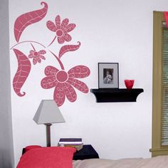 Hand Drawn Swirly Flowers - Wall Decals