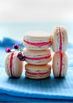 Chestnut & Pink Champagne Macarons