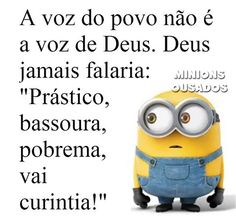 minions sinceros segunda feira - Pesquisa Google Cute Quotes For Him, Funny Quotes For Kids, Funny Quotes About Life, Work Memes, Work Humor, Funny Walmart Pictures, Funny Photos, Minion Movie, Good Sentences