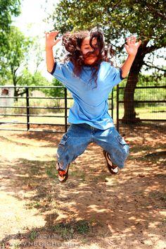 Title: Jump - No. 013 - Location - Daddy Mac's Ranch, Joshua, Texas - Date: June 2012 - Photo: Lon Casler Bixby - Web: www.neoichi.com - Model: Jordon