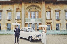 """Vintage car for a quirky couple! For more Alternative Wedding inspiration, check out the No Ordinary Wedding article Quirky Alternatives to the Traditional Wedding""""… Quirky Wedding, Wedding Blog, Wedding Cars, Alternative Wedding Inspiration, Wedding Transportation, Second Weddings, Wedding Ceremony Decorations, Traditional Wedding, The Ordinary"""