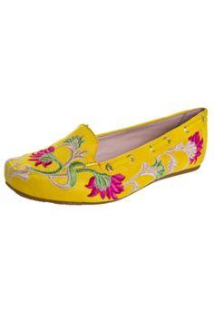 Sapatilha FiveBlu Bordado Amarela - Compre Agora   Fiveblu