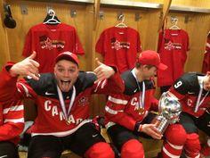 Team Canada 2015 WJC Domi in locker room Max Domi, Tyler Seguin, Arizona Coyotes, Carolina Hurricanes, Nhl Players, Of Montreal, Montreal Canadiens, Pittsburgh Penguins, Ice Hockey