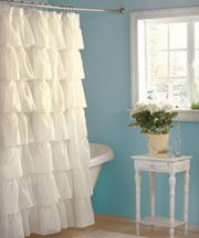 Ruffled Shower Curtain for only $16.95!!