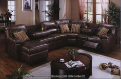 brown leather sectional This is my couch that I want so bad.