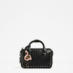 Image 2 of STUDDED MINI BOWLING BAG from Zara