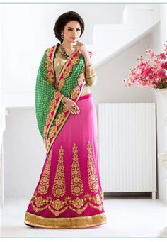 Online saree shopping India at ​sarees palace. cho​ose from a huge collecti​on of designer, ethnic, ca​sual sari, buy sarees online India for all occasions. Lehenga Style Saree, Pink Lehenga, Sari, Designer Sarees Online Shopping, Sarees Online India, Indian Designer Sarees, Stylish Sarees, Saree Shopping, Latest Fashion Design
