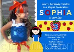 Snow White Inspired Photo Birthday Invitation - Printable Uprint