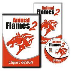 Animal Flames Vector Clipart Design Vol 2 – CD/Download