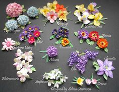 These are all the  flowers I created using the new Susan's Garden dies.   http://selmasstampingcorner.blogspot.com/2014/04/susans-garden-third-release.html